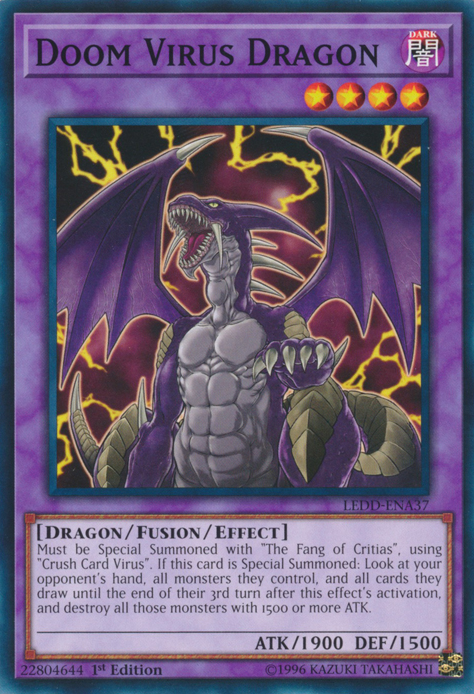 Doom Virus Dragon - LEDD-ENA37 - Common - 1st Edition
