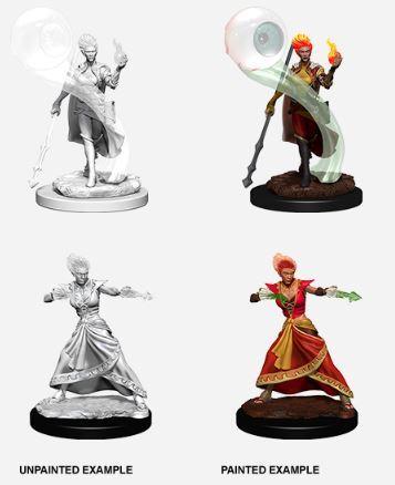 Nolzurs Marvelous Miniatures - Fire Genasi Female Wizard