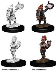 Pathfinder Battles Unpainted Minis - Gnome Male Bard