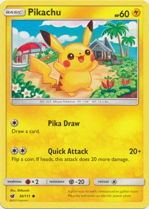 Pikachu - 30/111 - Common