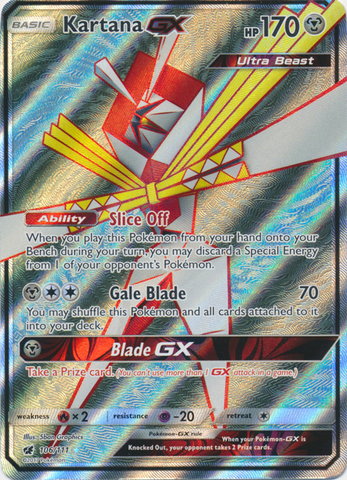 Kartana GX - 106/111 - Full Art Ultra Rare