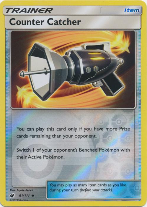 Counter Catcher - 91/111 - Uncommon - Reverse Holo - Pokemon