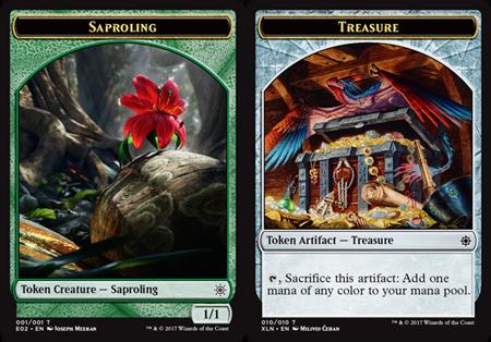 Saproling Token // Treasure Token (010)