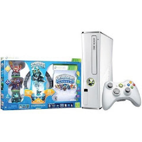 Xbox 360 Slim Console 4GB White Skylanders Bundle