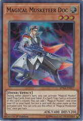 Magical Musketeer Doc - SPWA-EN017 - Super Rare - 1st Edition on Channel Fireball