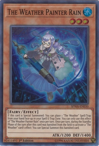 The Weather Painter Rain - SPWA-EN030 - Super Rare - 1st Edition