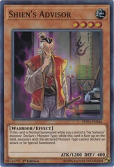 Shien's Advisor - SPWA-EN046 - Super Rare - 1st Edition