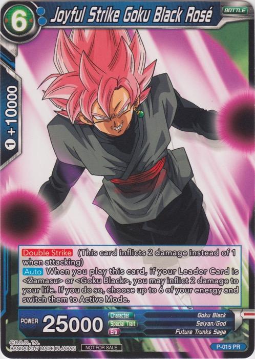 Joyful Strike Goku Black Rose (Foil Version) - P-015 - PR