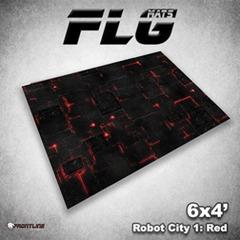 Flg Mats Robot City Red 4X6