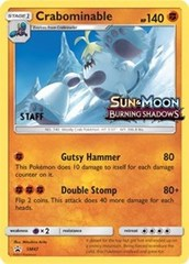Crabominable - SM47 - Staff Prerelease Promo - SM Black Star Promo