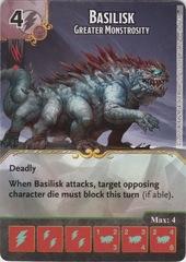 Basilisk - Greater Monstrosity (Die and Card Combo)
