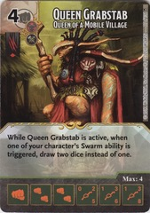 Queen Grabstab - Queen of a Mobile Village (Die and Card Combo)