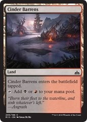 Cinder Barrens (Rivals of Ixalan) - Planeswalker Deck Exclusive