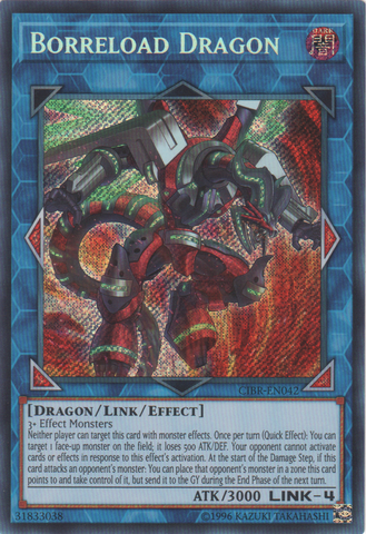 Borreload Dragon - CIBR-EN042 - Secret Rare - Unlimited Edition
