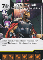 Beta Ray Bill - Last Hope of the Korbinites (Card and Die Combo) Foil