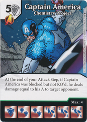 Captain America - Chemistry Project (Die and Card Combo)