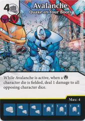 Avalanche - Quake in Your Boots (Die and Card Combo)