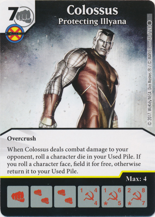 Colossus - Protecting Illyana (Card and Die Combo) Foil