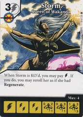 Storm - Queen of Wakanda (Die and Card Combo)