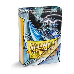 Dragon Shield Sleeves: Matte Clear (60 Japanese Size)