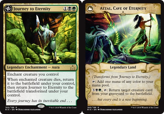 Journey to Eternity // Atzal, Cave of Eternity - Foil