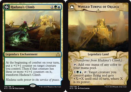 Hadanas Climb // Winged Temple of Orazca - Foil