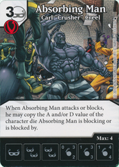 Absorbing Man - Carl ''Crusher'' Cree (Card and Die Combo) Foil