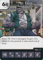 Mr. Fixit - Muscle For Hire (Card and Die Combo) Foil