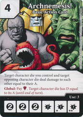 Archnemesis! - Basic Action Card (Die and Card Combo)