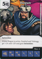 Hogun - The Grim (Die and Card Combo)