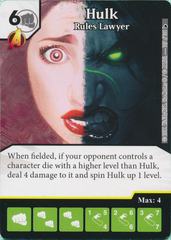 Hulk - Rules Lawyer (Die and Card Combo)