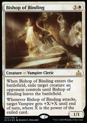 Bishop of Binding - Foil - Prerelease Promo on Channel Fireball