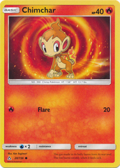 Chimchar - 20/156 - Common on Channel Fireball