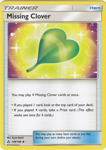 Missing Clover - 129/156 - Uncommon