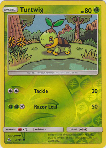 Turtwig - 7/156 - Common - Reverse Holo