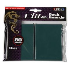 Bcw Deck Guard: Deck Protector Sleeve - Elite Glossy Teal (80Ct)