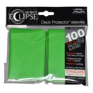 Ultra Pro - Pro Matte Eclipse: Deck Protector 100 Count Pack - Light Green