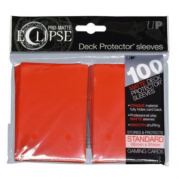 Ultra Pro - Pro Matte Eclipse: Deck Protector 100 Count Pack - Red