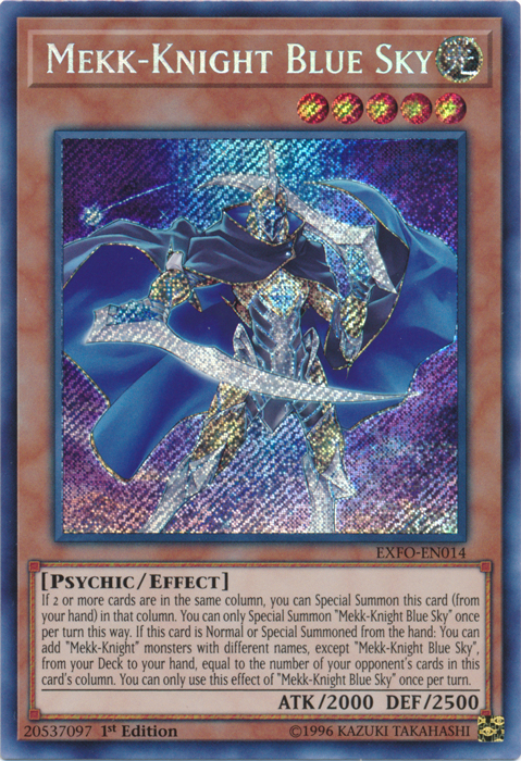 Mekk-Knight Blue Sky - EXFO-EN014 - Secret Rare - 1st Edition