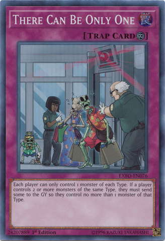 There Can Be Only One - EXFO-EN076 - Super Rare - 1st Edition