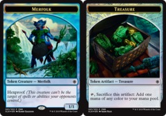 Merfolk // Treasure Token - FNM Mar 2018 Foil