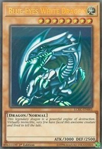 Blue-Eyes White Dragon (Version 2; Facing Left) - LCKC-EN001 - Ultra Rare - 1st Edition