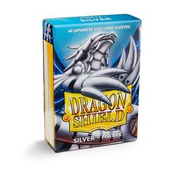 Dragon Shield - Matte Silver 60 Count Japanese size Sleeves