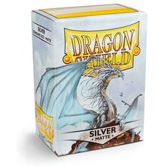 Dragon Shield Matte Standard Sleeves - Silver (100ct)