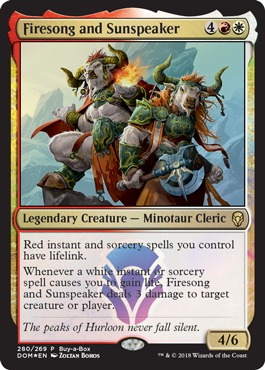 Firesong and Sunspeaker (Dominaria Buy-a-Box Promo)