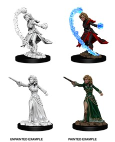Pathfinder Battles Unpainted Minis - Female Human Wizard