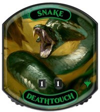 Ultra Pro - Relic Tokens: Eternal Collection - Snake (Deathtouch)