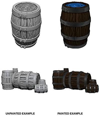 WizKids Deep Cuts Unpainted Miniatures: W5 Barrel & Pile of Barrels