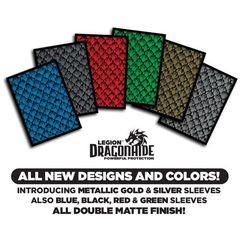 Legion Matte Sleeves: Dragon Hide 50 Ct - Green