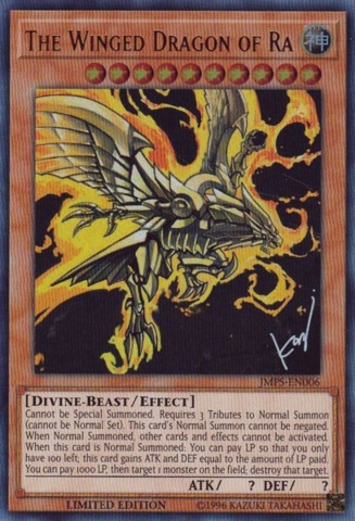The Winged Dragon of Ra - JMPS-EN006 - Ultra Rare - Limited Edition